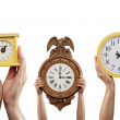 Stock Photo: Three Clocks