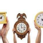Three Clocks — Stock Photo