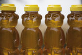 Row of Honey Bears — Stock Photo