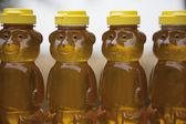 Rij van honing beren — Stockfoto