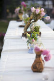 Wedding Table Flowers — Stock Photo