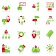 Management icons - green-red series — Stock Vector #10839352