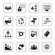 Management icons - BW series - Stock Vector