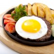 Royalty-Free Stock Photo: Steak with potato and egg