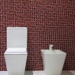 Stock Photo: Toilet and bidet