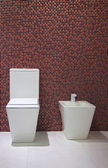 The toilet and bidet — Stock Photo