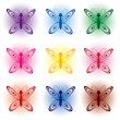 Set of butterflies — Stock Vector