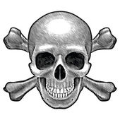 Skull and crossbones figure — Vector de stock
