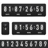 Countdown-zähler — Stockvektor