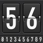 Mechanische scorebord nummers — Stockvector