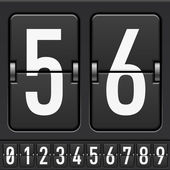 Mechanical Scoreboard Numbers — Stock Vector