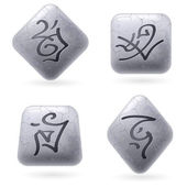 Runic Stones — Stock Vector