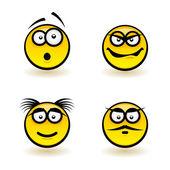 Cartoon faces — Vector de stock
