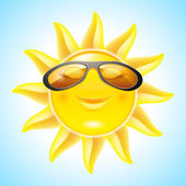 Smiling Sun — Vettoriale Stock