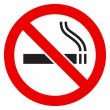 The sign No Smoking - Stock Vector