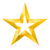 Shiny Gold Star — Stock Vector