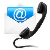 Telefon e-mail — Stockvektor
