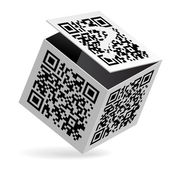 QR code on box — Stock Vector