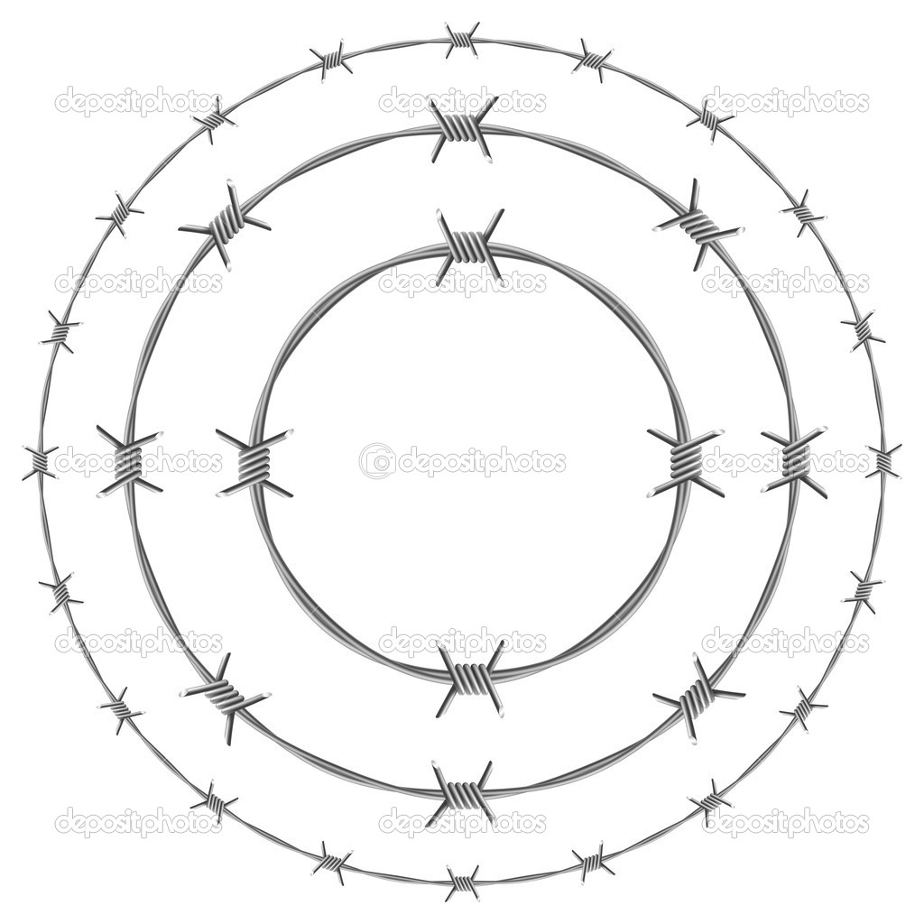 Barbed wire — stock vector dvargg