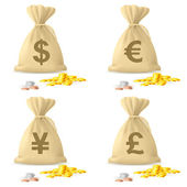 Money Bags — Stock Vector