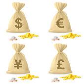 Money Bags — Stock Vector