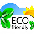 Eco friendly website icon or concepta — Stock Vector