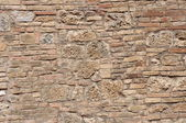 Stone wall old ancient building — Stock Photo