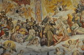 Frescoes in the cathedral of Florence — Stock Photo