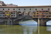 Tourist attraction, the Ponte Vecchio in Florence — Stock Photo