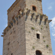 A stone tower in San Gimignano Tuscany — Stock Photo