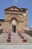 The historic church in Chianti Tuscany Italy Pazano — Stock Photo