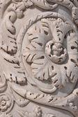 Ornement de marbre planter les colonnes de la cathédrale de Sienne — Photo