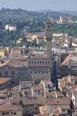 Florenz horizontale ansicht auf den dächern — Stockfoto