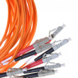 Optical multimode patch cable to the network with plug LC — Stock Photo