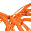 Stock Photo: Optical multimode patch cable to the network structural