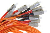 Optical multimode patch cable to the network with plug SC — Stock Photo