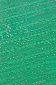 Green ciruit board — Stock Photo