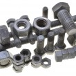 Group of nuts and bolts — Stock Photo