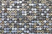 Orderly chaos bolts, screws, nails — Stock Photo