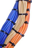 Bunches of network cables — Stock Photo