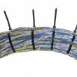 Network cables with cable ties — Stock Photo