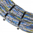 Stock Photo: Network cables with cable ties
