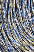Kleurrijke trossen van kabels — Stockfoto
