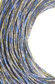 Kleurrijke trossen van kabels, een wereldwijd netwerk — Stockfoto