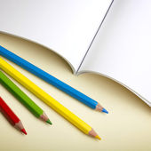 Paper and pencils — Stock Photo