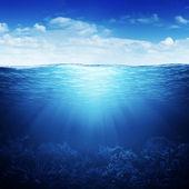 Waterline and underwater background — Stock Photo