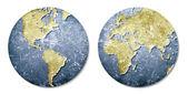 Globe, Word map — Stock Photo