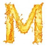 ������, ������: ��� Orange liquid splash alphabet