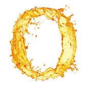 Alfabeto de salpicaduras de líquido naranja — Foto de Stock