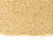 The sand isolated on white background — Stock Photo